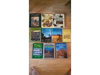 gamekeeping,shooting books,country sports by various authors