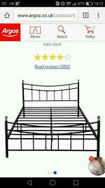 Double frame metal bed
