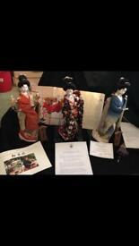 Japanese Kyugetsu Figurines