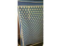 Child blue canvas wardrobe