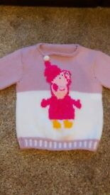 Girls wool hand knitted Peppa Pig jumper *3 collection locations*