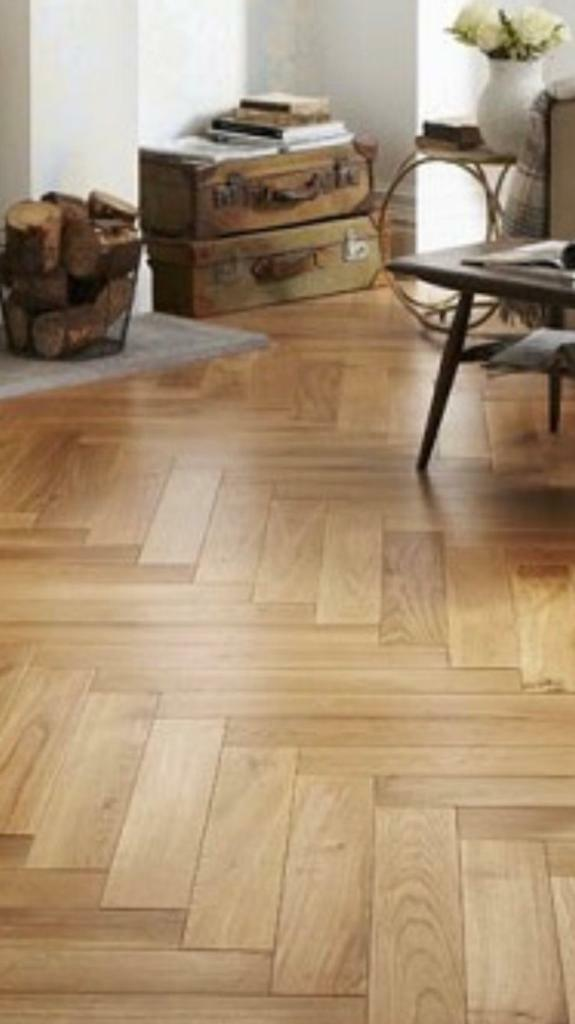 Parquet Engineered Herringbone Wood Flooring Oak 14 4m2 Available