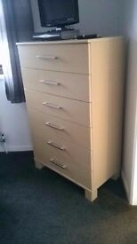 large 6 draw chest of drawers- other matching wardrobes drawers etc