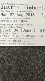 Justin Timberlake concert tickets Birmingham