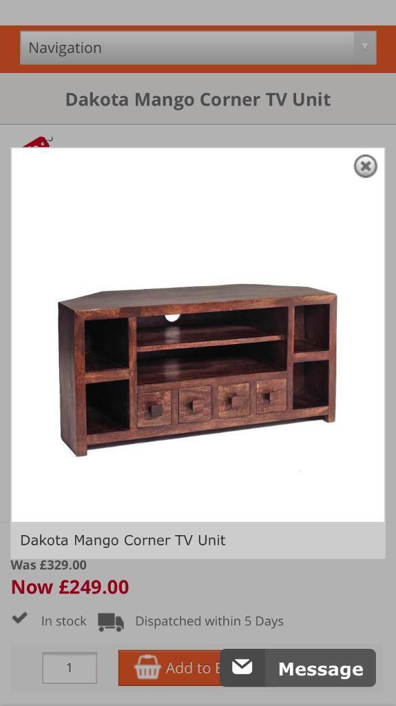 Mango Wood Tv Corner Unit in Middlesbrough North  : 86 from www.gumtree.com size 575 x 1024 jpeg 40kB