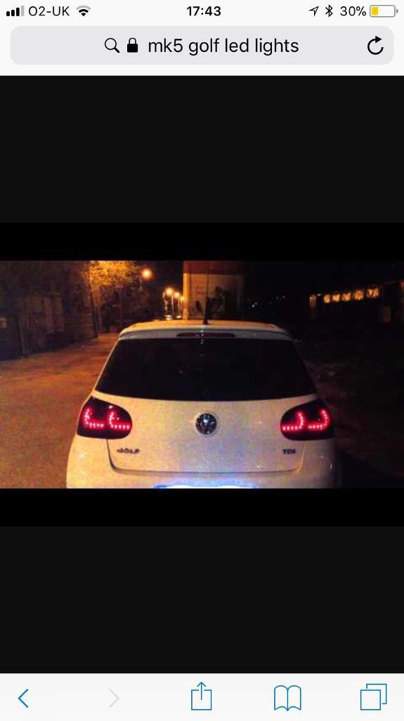 Mk5 golf R spec led rear lights (left and right)