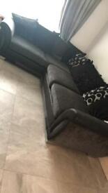 Corner sofa and tub swivel chair chair