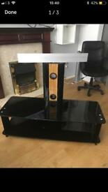Black TV stand, selling ASAP.