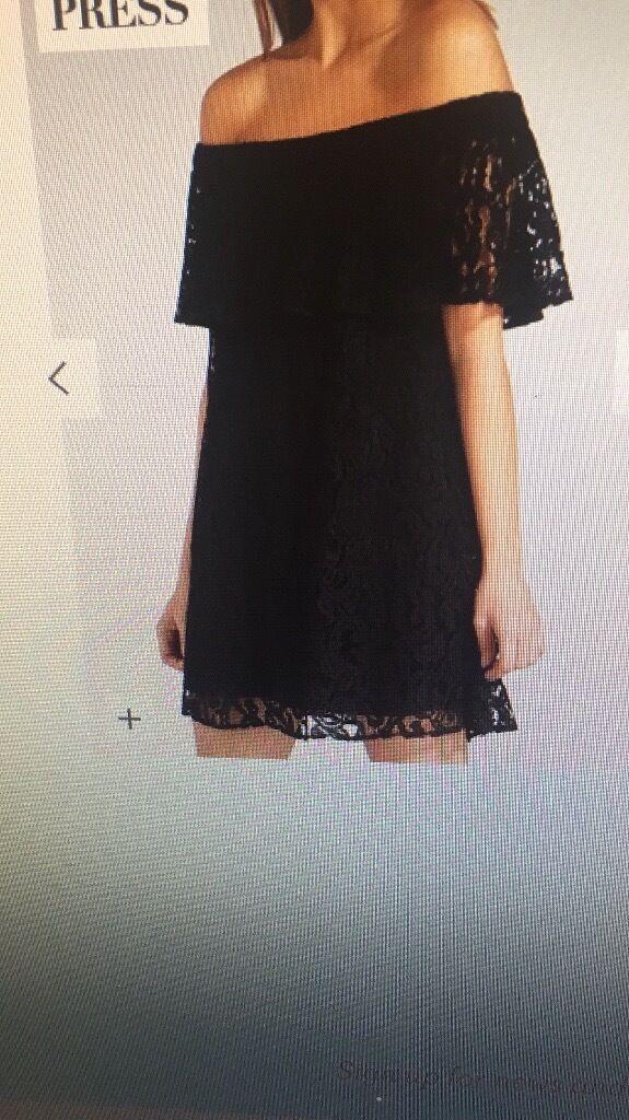 Black off the shoulder dress size 14