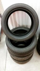 (E23) Pneus d'Ete - Summer Tires 225-45-18 Bridgestone RunFlat 7/32