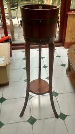 Vintage antique oak wooden plant stand jardinière R A Lister