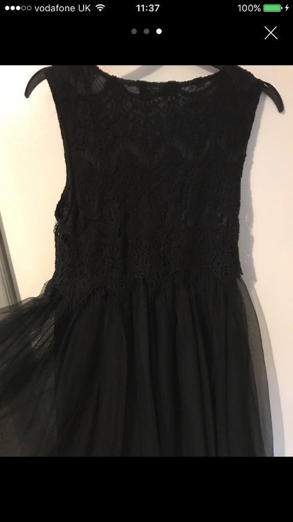 Black tulle and lace party dress