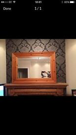 Pine mantle mirror and bedroom mirror