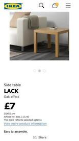 2 x Ikea Lack Tables