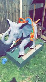 Elephant electric ride on