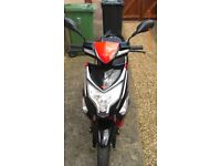 Lexmoto Echo 50cc Moped RED/BLACK - with Helmet Jacket and Gloves