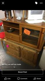Pine tv/hifi cabinet only £25ono