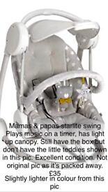 Mamas & papas light up swing