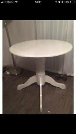 White kentucky dining table compact 75cm diameter