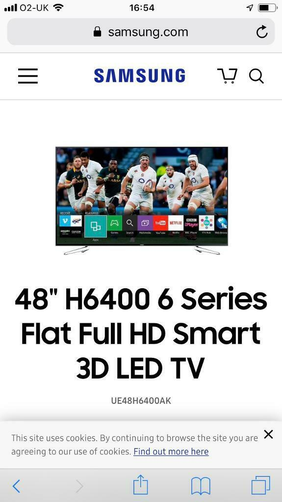 SAMSUNG 48inch FULL HD LED SMART TV | in Gloucester, Gloucestershire |  Gumtree