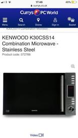 EXCELLENT CONDITION KENWOOD COMBINATION MICROWAVE