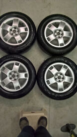 Seat Leon Alloy Wheels x4 Mk1 15 inch VW 5x100