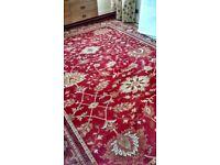 Extra large Royal Keshan Persian Agra 100% wool rug
