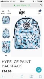Hype ice backpack RRP £45 brand new ideal school bag