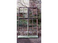 Vintage Metal Window Frames from early 1940s. 1.54m x 1.00m Reclaimed.