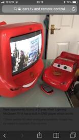Disney cars tv/dvd combi with remote. And also cd/ radio player.