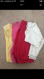 Girls cardigans size 12-18mths
