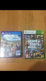 Far cry 5 Ps4 gta 5 Xbox 360/collectable