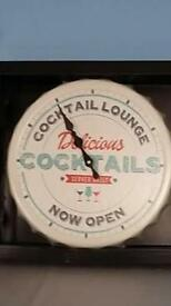 Lid top cocktail wall clock