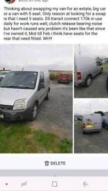 Ford Transit connect swap