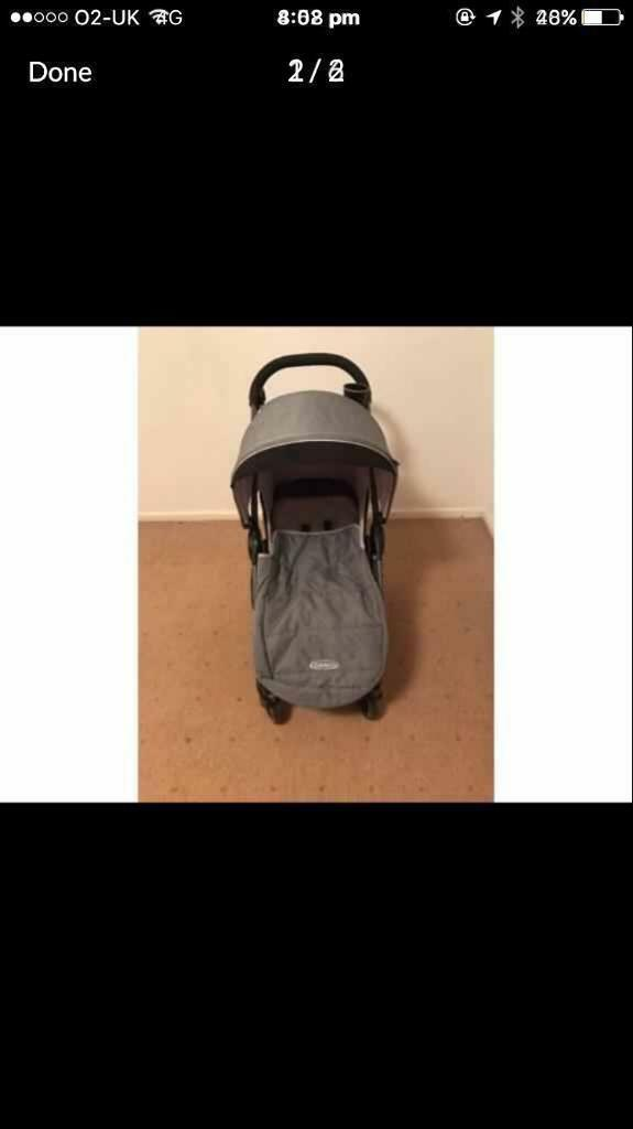 Excellent good as new pushchair, car seat and base, open to offers
