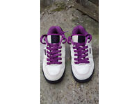 Animal Baiter Skate Shoes UK 7 cream suede uppers purple laces/detailing good condition