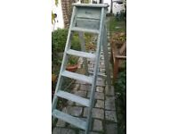 step ladders are duck egg blye on colour with rope attachment