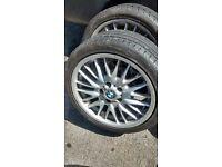 GENUINE BMW MV1 REAR ALLOY 8.5j x18 255/35/ZR18 WITH GOOD LEGAL TYRE