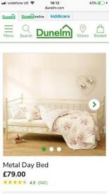 Cream shabby chic metal day bed