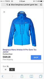 Blue berghaus gortex jacket size L