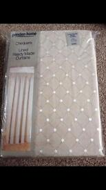 New ready made lined curtains beige/tan