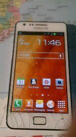 Samsung Galaxy S2 cracked screen