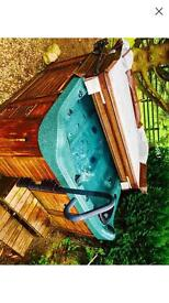 Hot tub cover lifter steps and handle