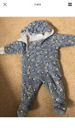 Baby boys coats and snowsuits 3-6 6-9