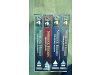Set of four Sherlock Holmes video tapes, new and unwrapped - FREE