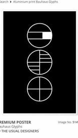 Bauhaus Glyphs poster. New