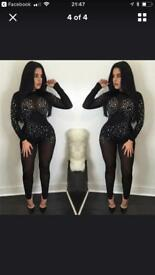 Bodysuit with zip at the back