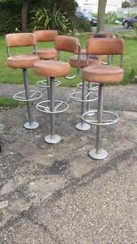 6 leather bar stools - Collection only