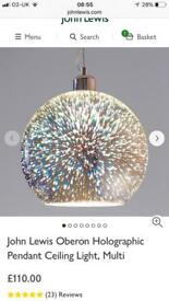 Brand new john lewis oberon light