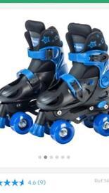 Quad rollerskates size 1-3
